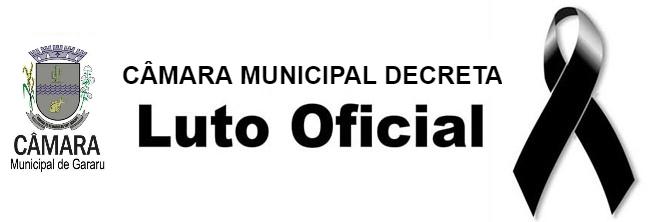 Presidente da Câmara Municipal de Gararu Vereador João de Bebé decreta Luto Oficial de 03 dias pelo o falecimento do Ex-Vereador Sr. Antônio Almeida de Resende.